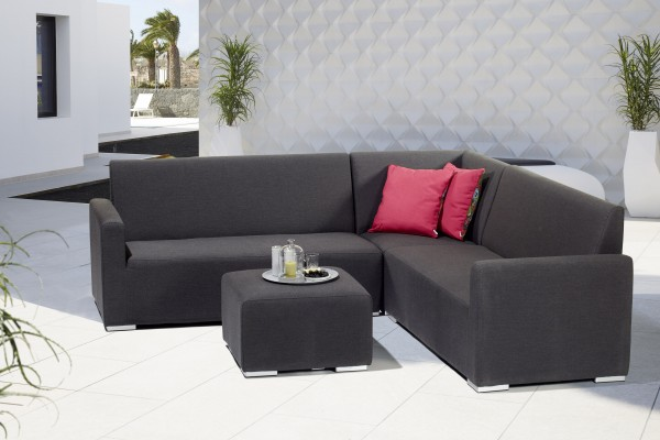 TIAS Ecklounge Gartenmöbel Sitzgruppe Sunbrella grau - 608880