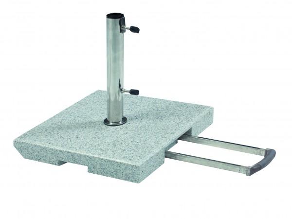 Schirmständer 40kg Granitständer - Trolley-Funktion & Rollen (DP)