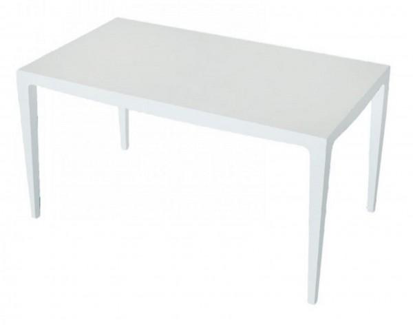 MESA MASTER Gartentisch 140x80cm Kunststoff - weiß