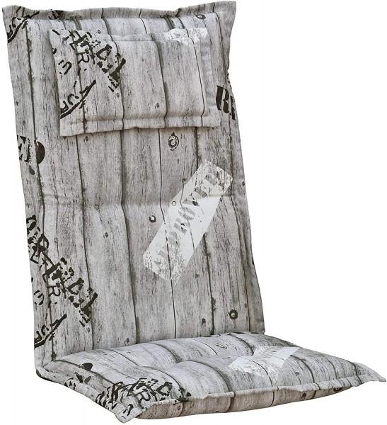 778 Hochlehner Gartenstuhl Auflage Kissen 120x50x8cm grau