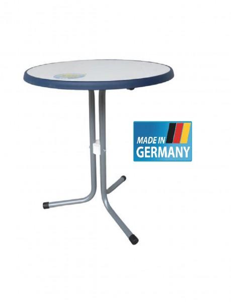 Bistrotisch mit Sevelitplatte in blau bianco, Ø 60cm graphit #19