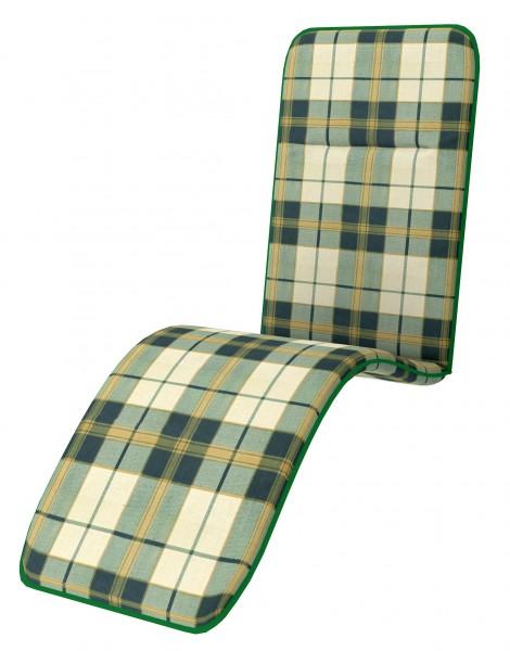 D129 Relaxliegenauflage Relaxsessel Auflage Kissen grün kariert