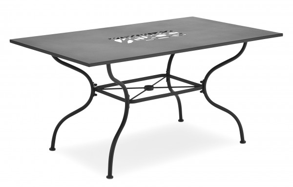 ALGIRI Gartentisch 150x90cm grau