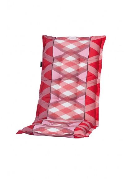 C319 Hochlehner Gartenstuhl Auflagen 120x50x8cm rot Muster