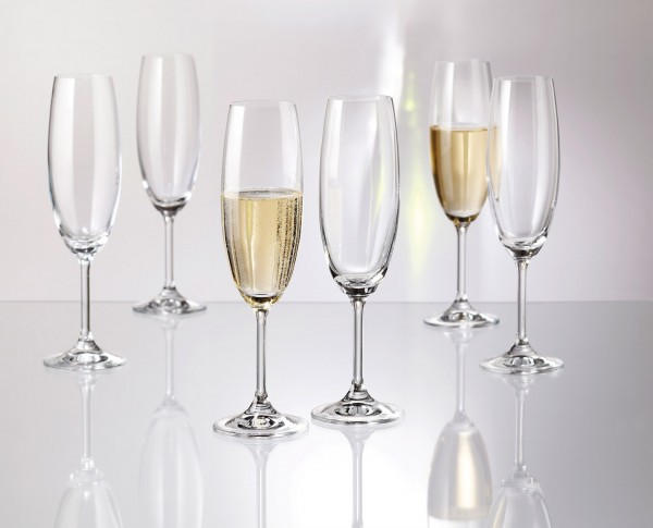 SERIE MARTINA 6er-Set Sekt-Gläser à 220 ml