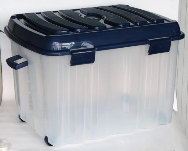 XXL Profi Rollenbox 142 Liter inkl. Griff und Deckel - 78x55x52cm