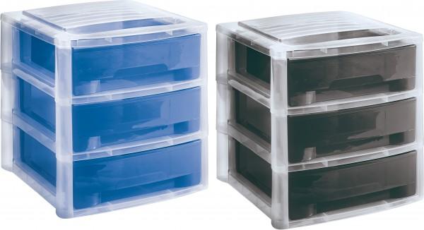 Büro-Stapelbox Ablage Schubladenbox mit 3 Schubladen