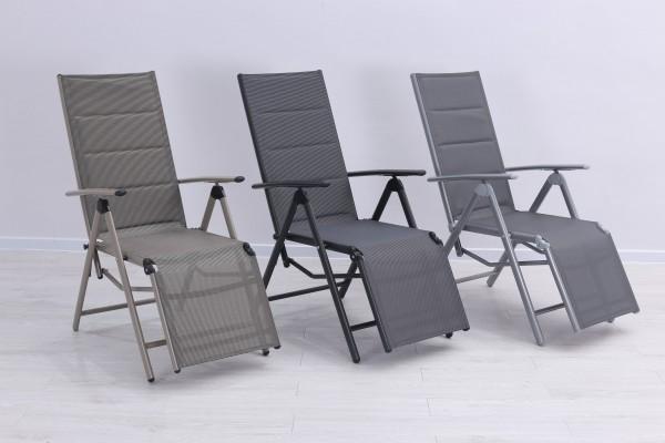 BOLERO PADDED Relaxsessel Liegestuhl verstellbar & klappbar