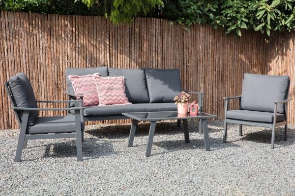 Bacard Aluminium Lounge Gartenmobel Sitzgruppe Grau