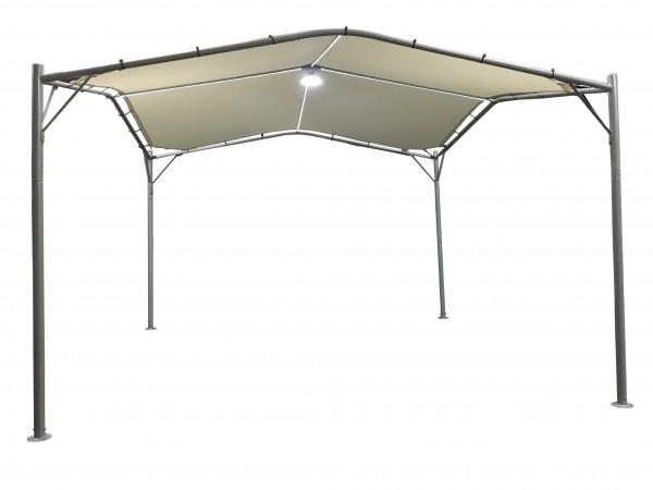 SWAN Pavillon mit LED 350x350cm wasserdicht - natur