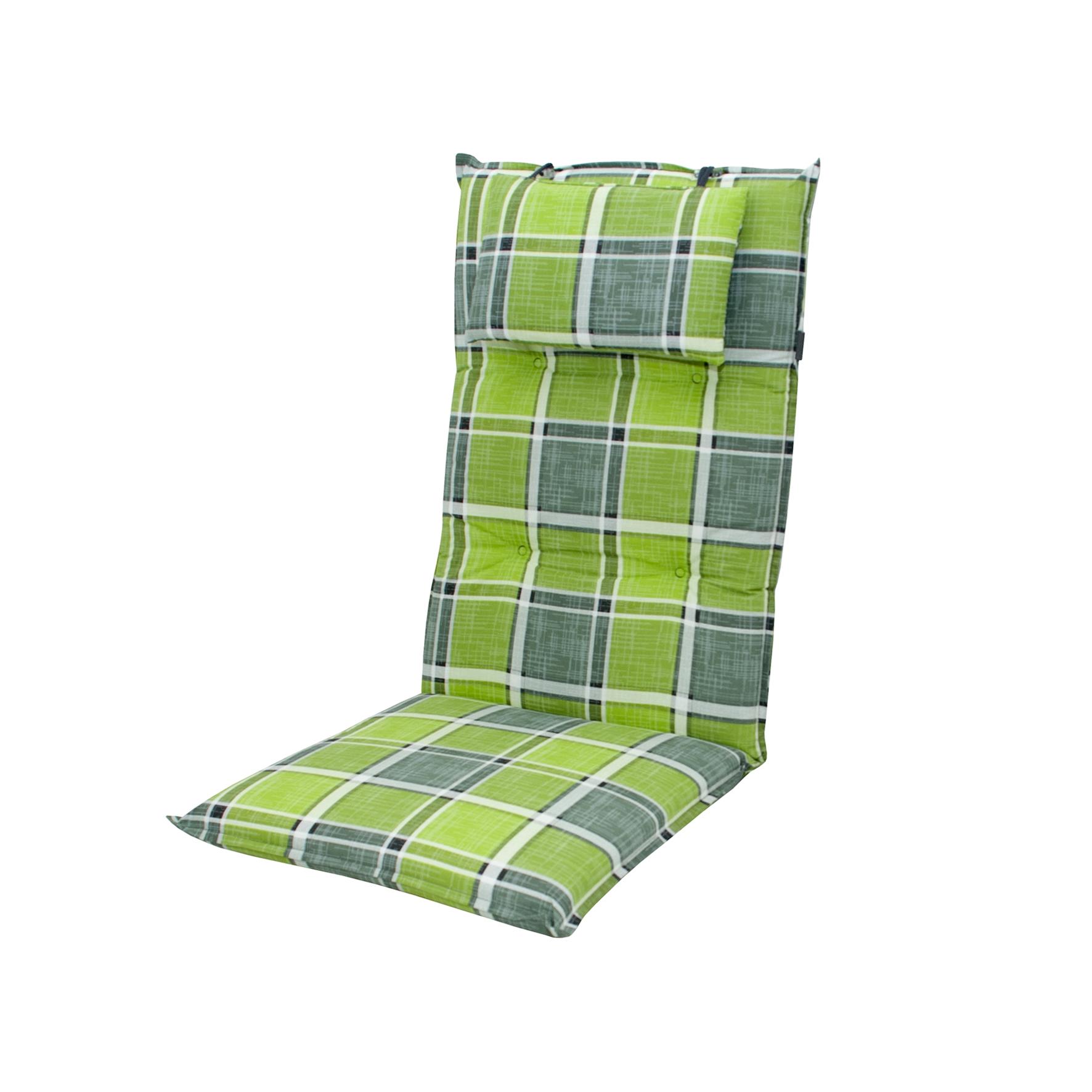 5911 hochlehner gartenstuhl auflagen 8cm kopfkissen gr n f r st hle mit hoher lehne auflagen. Black Bedroom Furniture Sets. Home Design Ideas