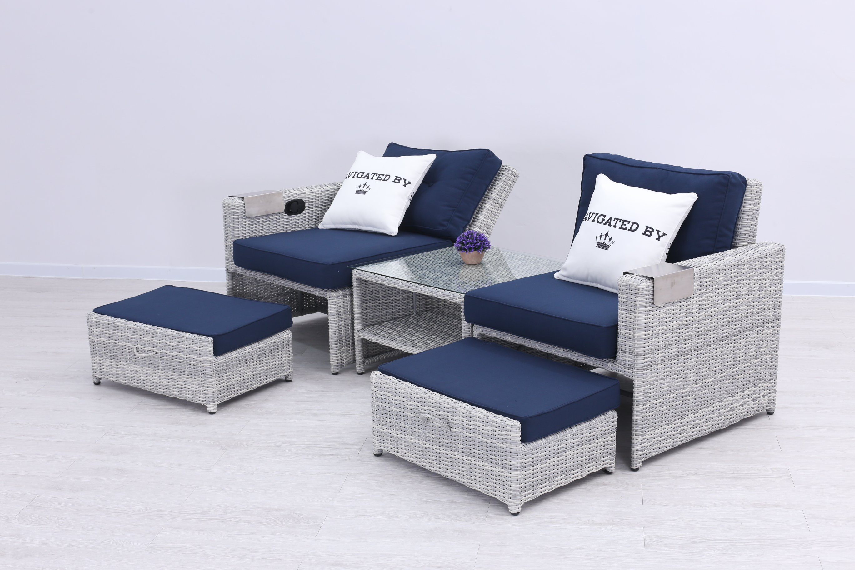 seko polyrattan duo daybed 2 sitzer lounge grau lounge m bel garten gartenm bel. Black Bedroom Furniture Sets. Home Design Ideas