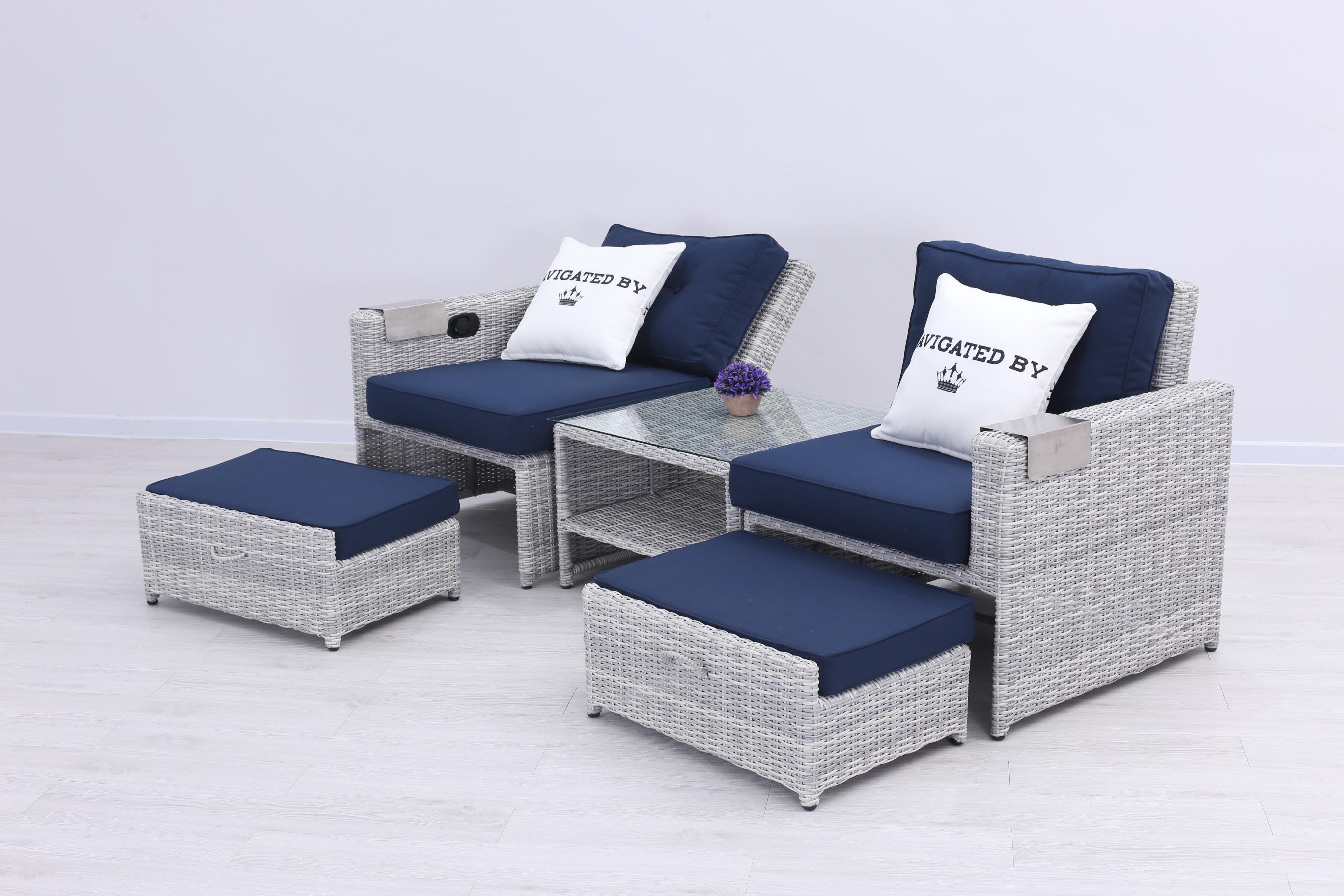 seko polyrattan duo daybed 2 sitzer lounge grau lounge m bel garten gartenm bel. Black Bedroom Furniture Sets. Home Design Ideas