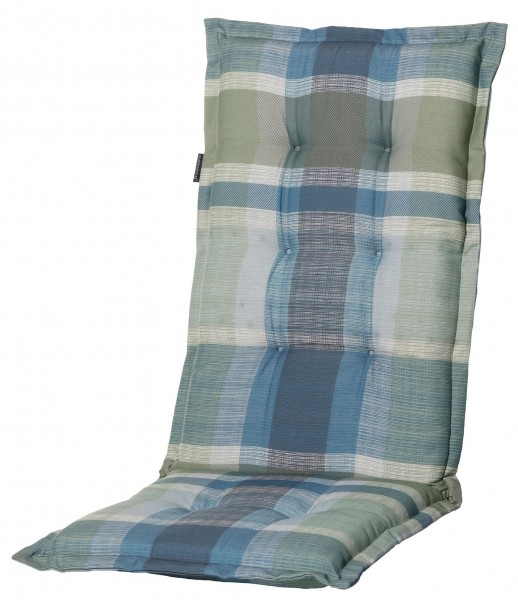 C211 Hochlehner Gartenstuhl Auflagen 120x50x8cm blau kariert