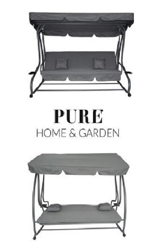askim xl 4 sitzer hollywoodschaukel mit liegefunktion gartenliegen garten. Black Bedroom Furniture Sets. Home Design Ideas