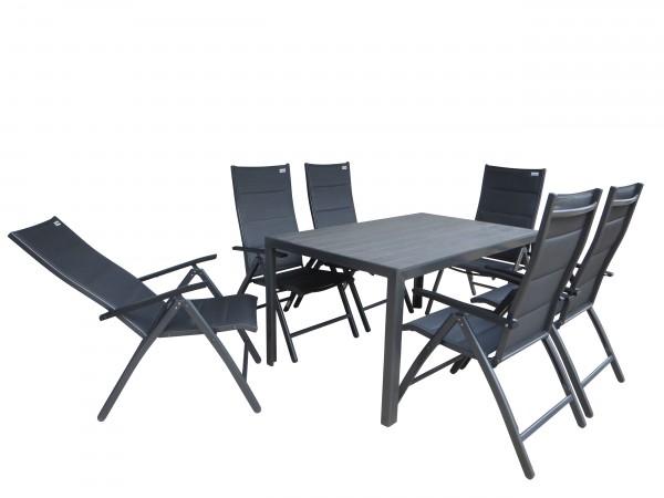 SALVADOR PADDED XL Gartenmöbel Set Sitzgarnitur - anthrazit