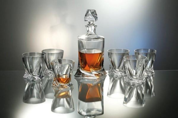 802399 Whisky Set 7tlg. aus Kristallglas
