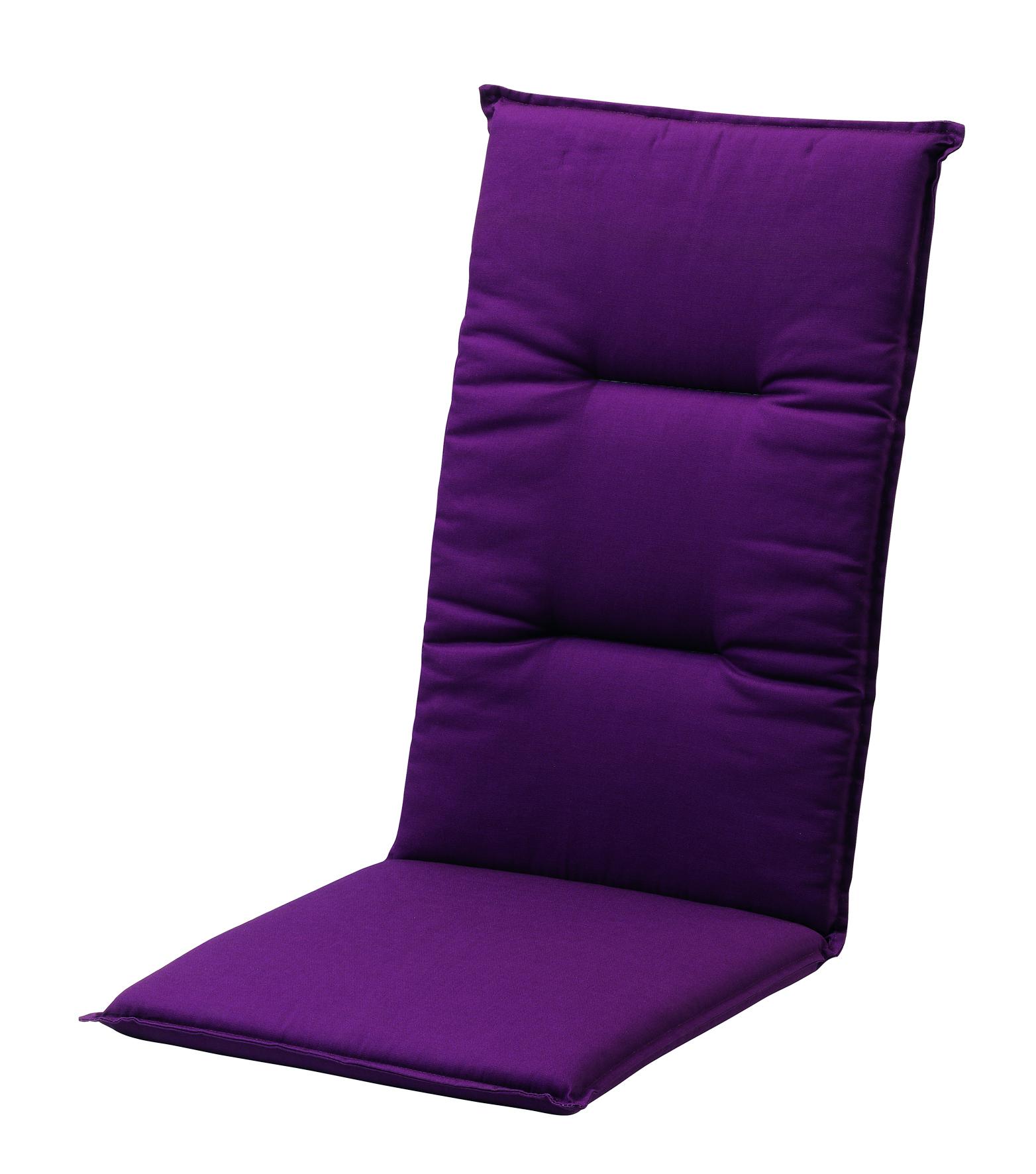 Gartenmobel Outlet Munchen : Auflagen 116x48x5cm lila uni  für Stühle mit hoher Lehne  Auflagen