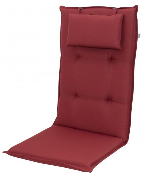 8833 Hochlehner Gartenstuhl Auflagen 8cm Kopfkissen rot