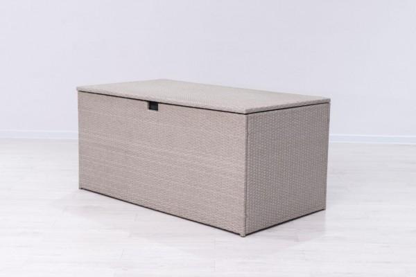 MILOS Polyrattan Auflagenbox Kissenbox grau 145x80x60cm