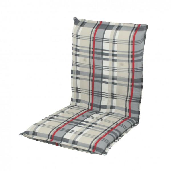 5123 niederlehner auflagen 100x50x8cm niedrig grau kariert. Black Bedroom Furniture Sets. Home Design Ideas
