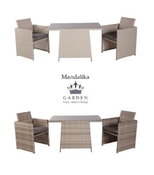 SMART Polyrattan Gartenmöbel Set Lounge Balkon-Set