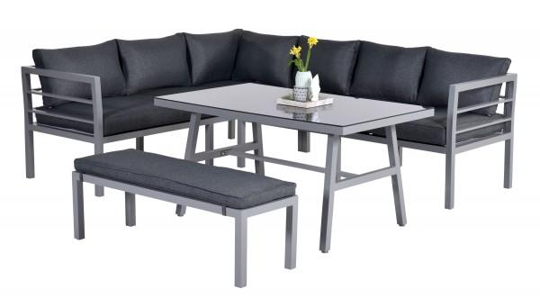 BLAKES Aluminium Ecklounge Gartenmöbel Sitzgruppe anthrazit