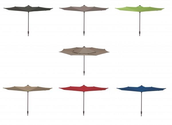 VICEVERSA Sonnenschirm Ø 300cm Kurbelschirm mit Alu-Gestell