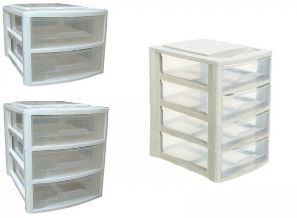 Büro-Stapelbox mit 2-4 Schubladen