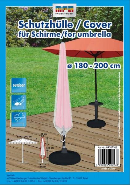 Schutzhülle für Sonnenschirme Ø 180-200cm