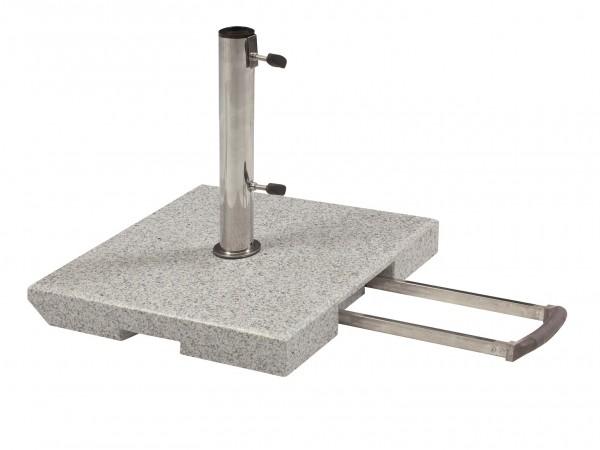 Schirmständer 70kg Granitständer - Trolley-Funktion & Rollen (DP)