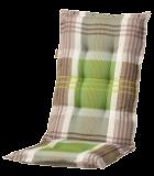 c296 hochlehner gartenstuhl auflagen 120x50x8cm gr n kariert f r st hle mit hoher lehne. Black Bedroom Furniture Sets. Home Design Ideas