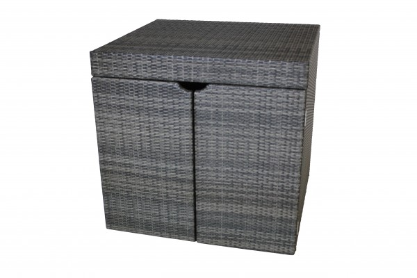 CHESTERFIELD Polyrattan Auflagenbox Kissenbox 102x93x99cm grau