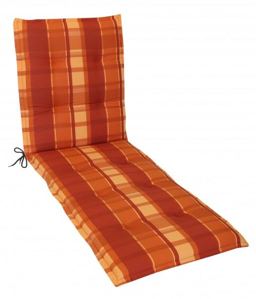Rollliegenauflage Gartenliege Auflage 190x60x8cm (GD) Karo