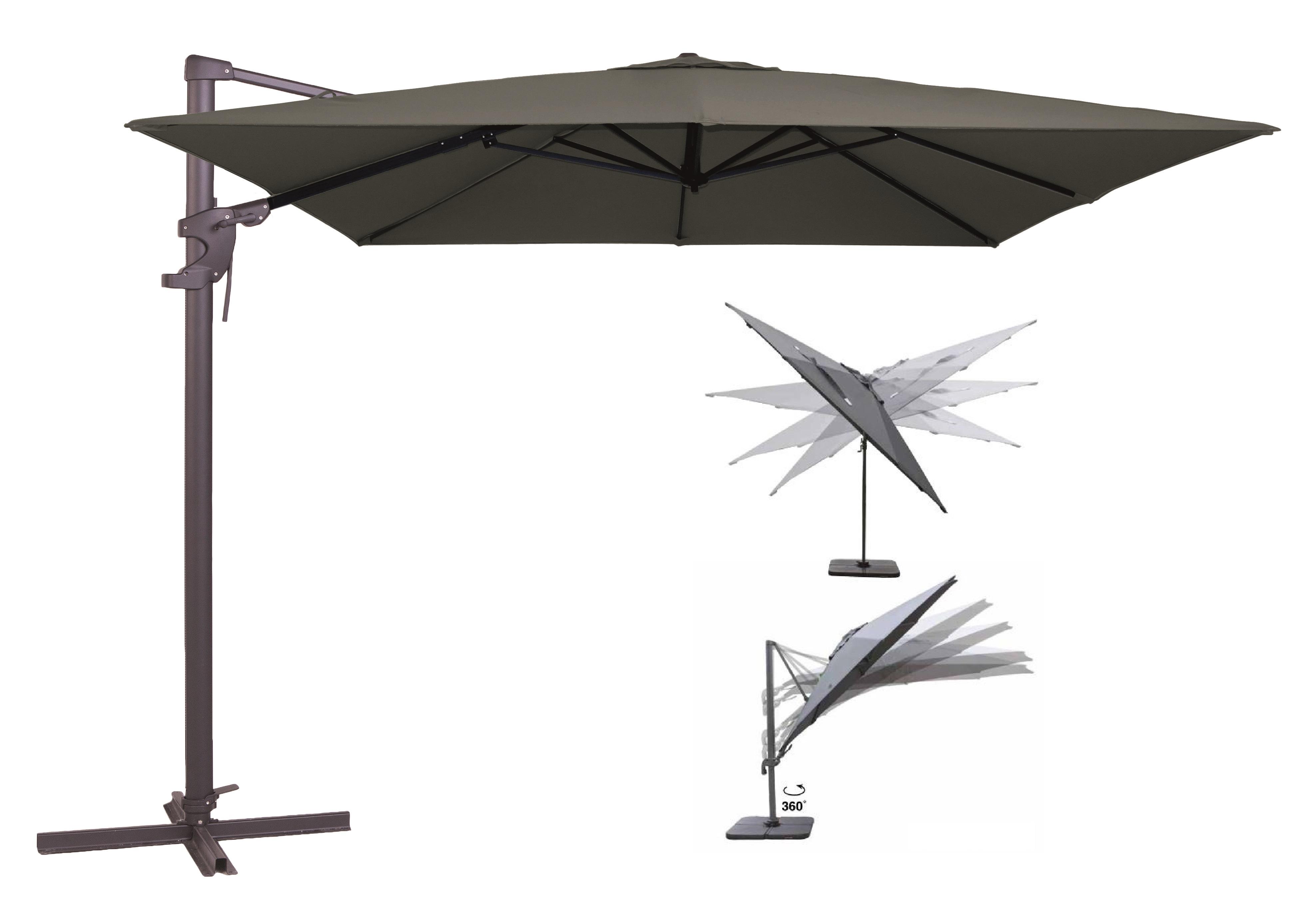 Sonnenschirm Ampelschirm 3x3m Gartenschirm Marktschirm Kurbelschirm Verona