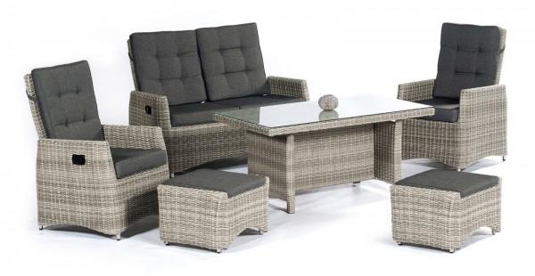ROSEVILLE Polyrattan Lounge Gartenmöbel Sitzgruppe - natur ...