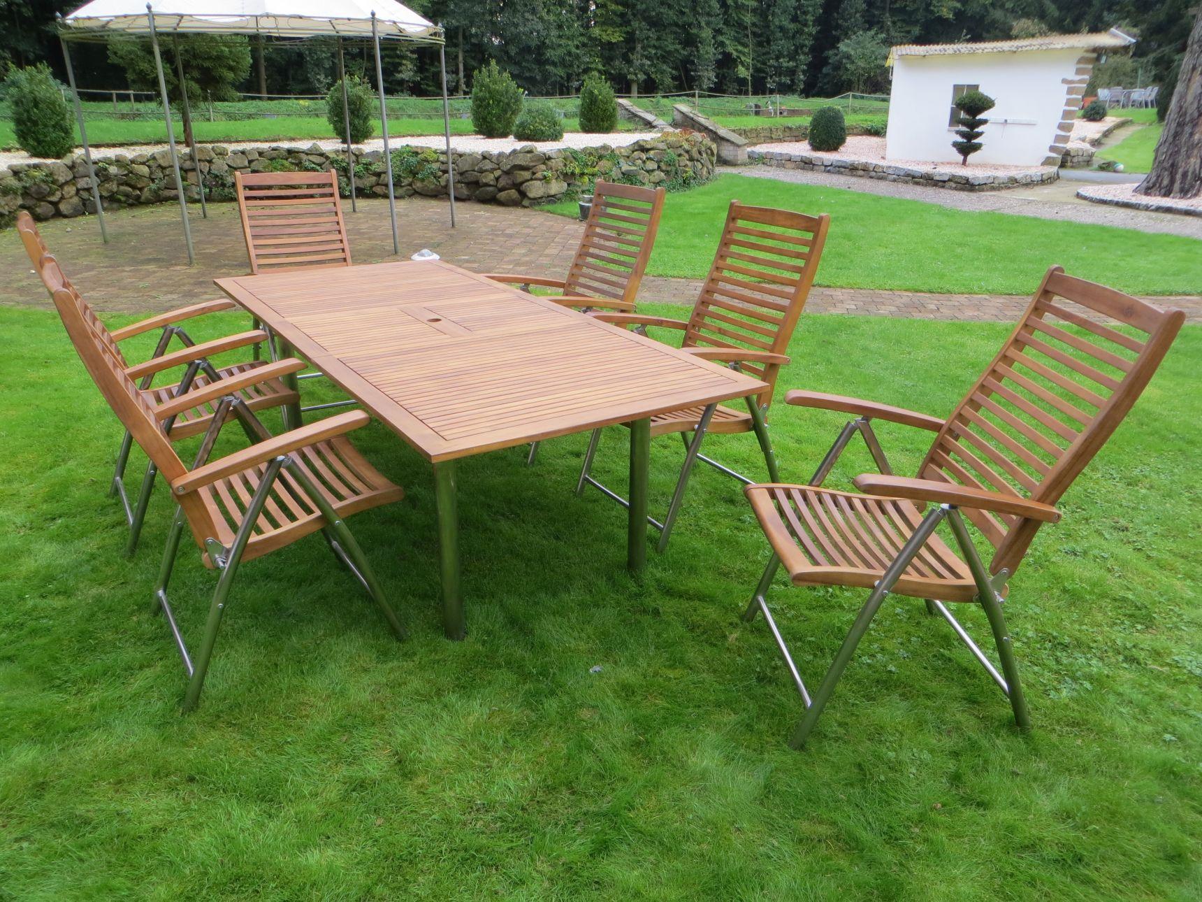 Gartenmöbel Holz Mit Edelstahl – Schoner garten