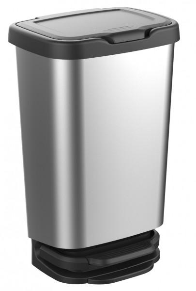 JIVE Abfalleimer 40 Liter Mülleimer in Alu-Optik