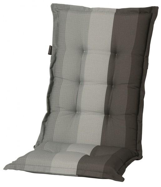 C404 Hochlehner Gartenstuhl Auflagen 120x50x8cm grau gestreift