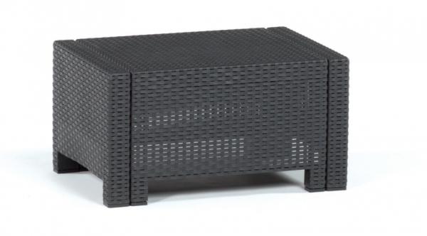 Kunststoff Loungetisch Beistelltisch 74x57x35cm - 9015.4 anthrazit