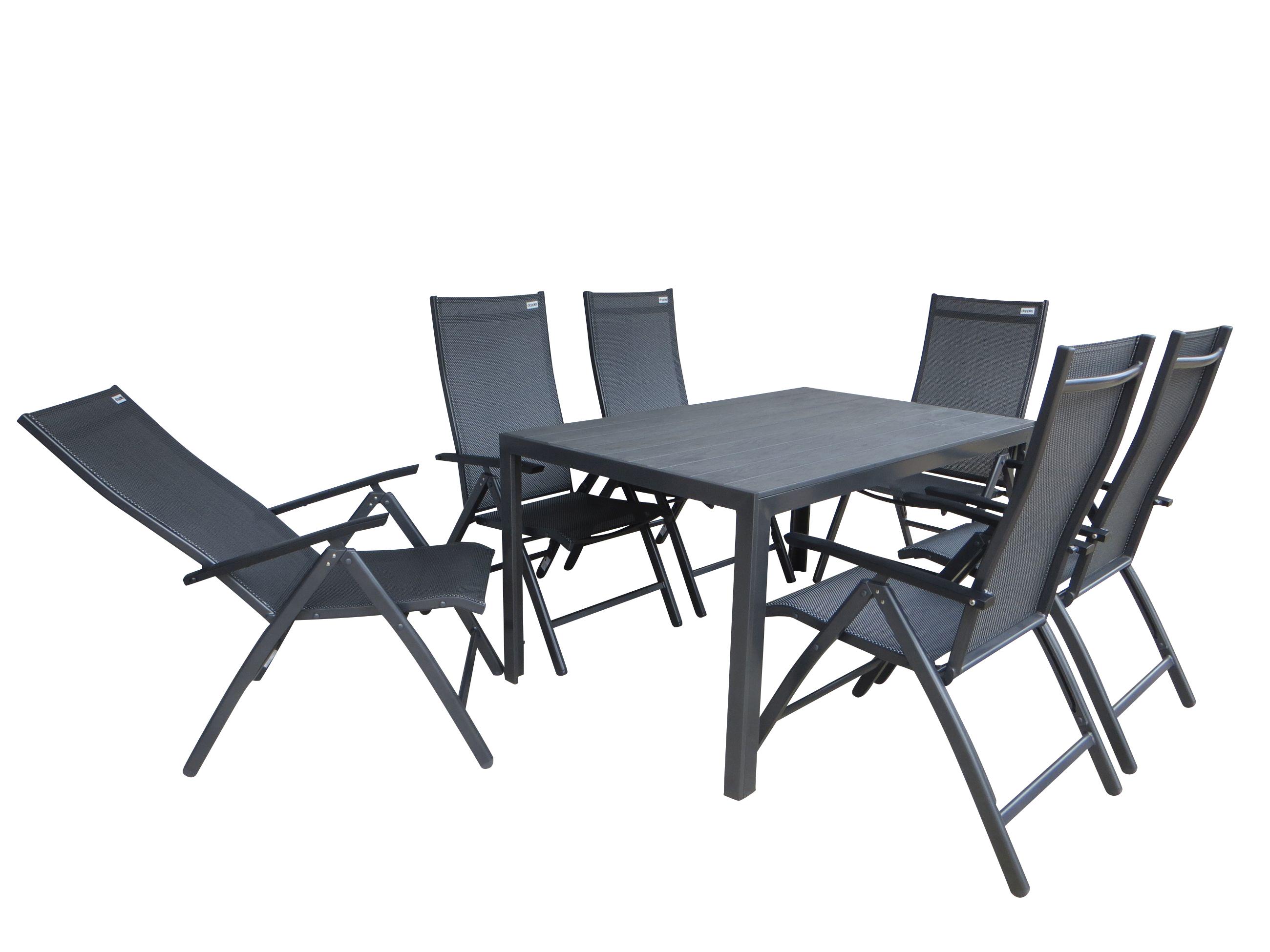 salvador xl alu gartenm bel set sitzgarnitur 7 teilig. Black Bedroom Furniture Sets. Home Design Ideas