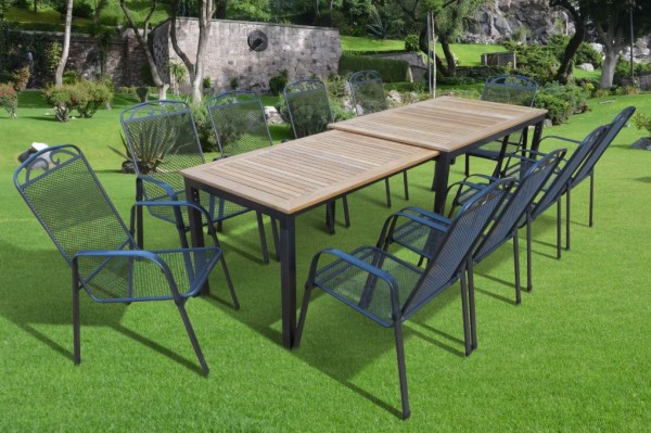 tifosi teak gartenm bel set 11 teilig grau anthrazit teak gartenm bel gruppen garten. Black Bedroom Furniture Sets. Home Design Ideas