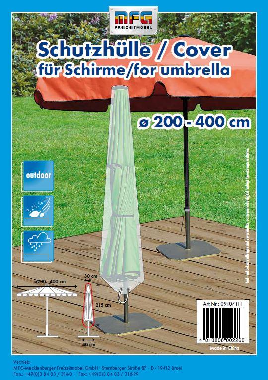 schutzh lle f r sonnenschirme 200 400cm schutzh llen garten. Black Bedroom Furniture Sets. Home Design Ideas