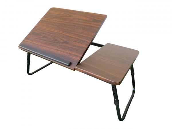 Notebooktisch in Holzoptik 60x35cm - klapp- und höhenverstellbar