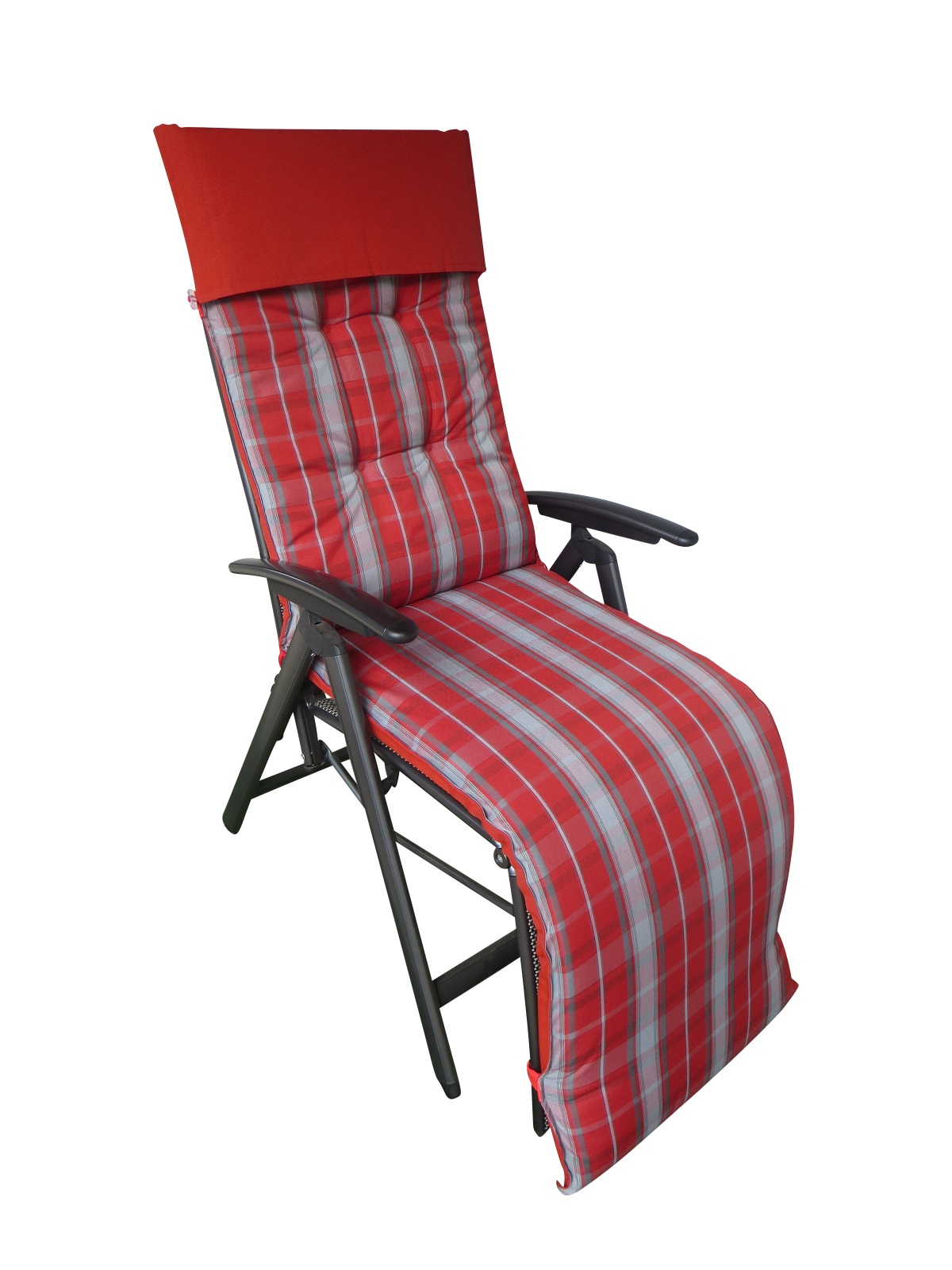 4302k relaxliegenauflage sessel 175x50x7cm rot kariert. Black Bedroom Furniture Sets. Home Design Ideas