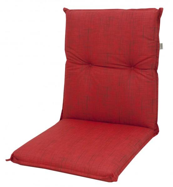 6998 Niederlehner Gartenstuhl Auflage niedrig 100x50x8cm rot