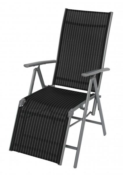 DELPHI Relaxsessel 8fach verstellbar & klappbarer Liegestuhl
