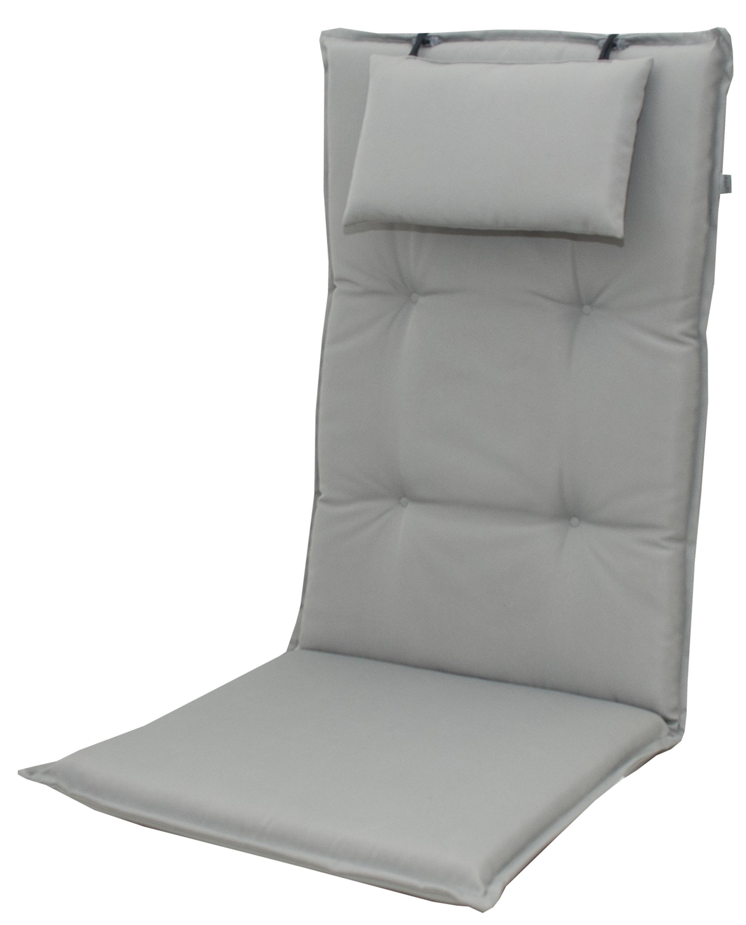 9827 hochlehner gartenstuhl auflagen 8cm kopfkissen grau f r st hle mit hoher lehne auflagen. Black Bedroom Furniture Sets. Home Design Ideas