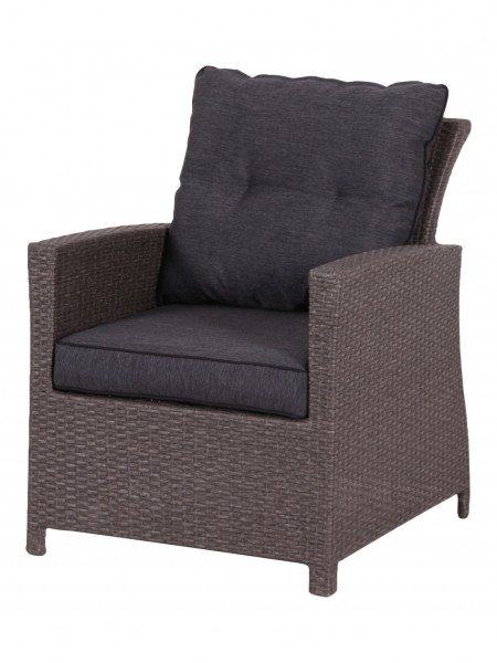 HAVANNA Loungesessel Sessel mit Polyrattan-Geflecht taupe