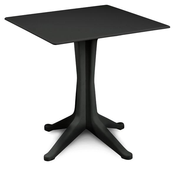 PONENTE Gartentisch aus Kunststoff 70x70cm - anthrazit
